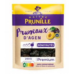 Pruneaux d'Agen Dénoyautés Premium Calibre 28/33 Sachet 250g